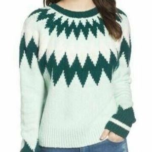 Nordstrom BP. Women's Cozy Ski Sweater in Green